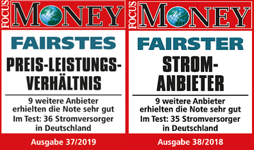 FOCUS-MONEY Fairness-Studie Stromversorgung 2018